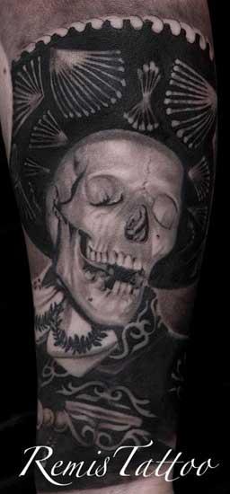 Schaurige Totenkopf Tatowierungen Tattoo Spirit