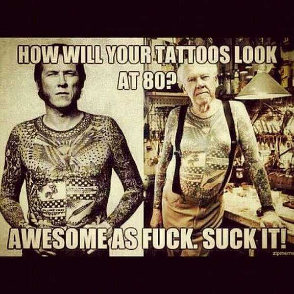 tattoo sprüche lustig