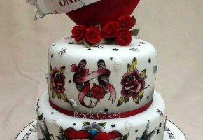 Wunderschöne Tattoo-Torten