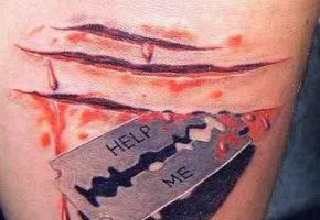Ekelhafte Tattoo-Wunden