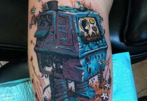 Digitale Roboter Tattoos