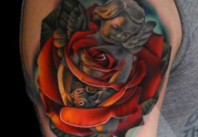 Unfassbar originelle Rosen Tattoos