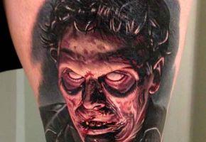 Total schräge Zombie-Tattoos