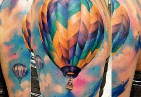 Balloon-Tattoos - Farbe in der Luft
