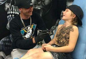 The Real life Hero & the Fake Tattoos