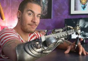 Prosthetic Tattoo Arm - JC Sheitan