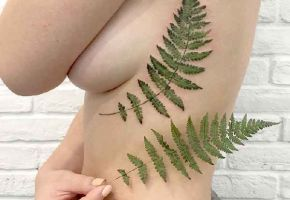 Botanische Tattoo Abdrücke