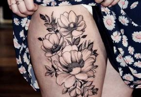 Blumen-Tattoos mit Diana Severinenko