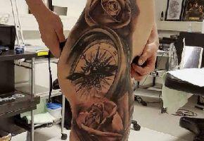 40 Oberschenkel Tattoos für Frauen