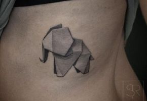 Originelle Origami Tattoos