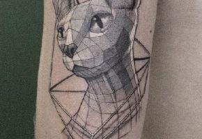 Geometrische Tiermotive