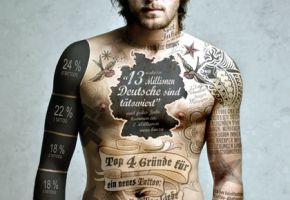 Dann sind die echten Freaks die Leute ohne Tattoos!