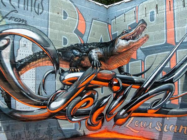 Crazy 3d Graffiti Art Tattoo Spirit