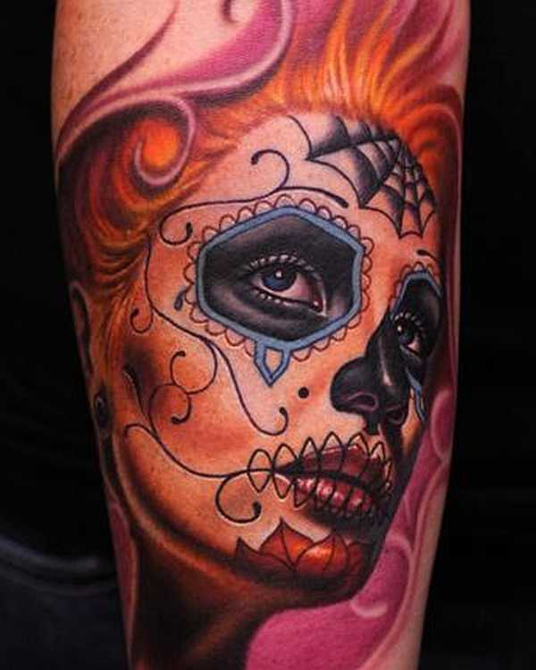 15 geniale la catrina tattoos tattoo spirit. Black Bedroom Furniture Sets. Home Design Ideas