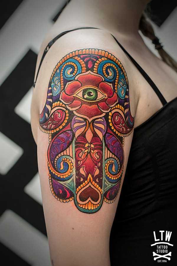 hamsa die hand der fatima tattoo spirit. Black Bedroom Furniture Sets. Home Design Ideas