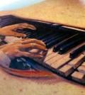 Tattoo, Piano, Music