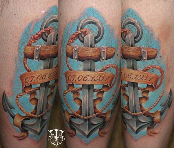 ungew hnliche anker tattoos tattoo spirit. Black Bedroom Furniture Sets. Home Design Ideas