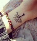 Wrist Tattoo Tree Baum Tiny Klein