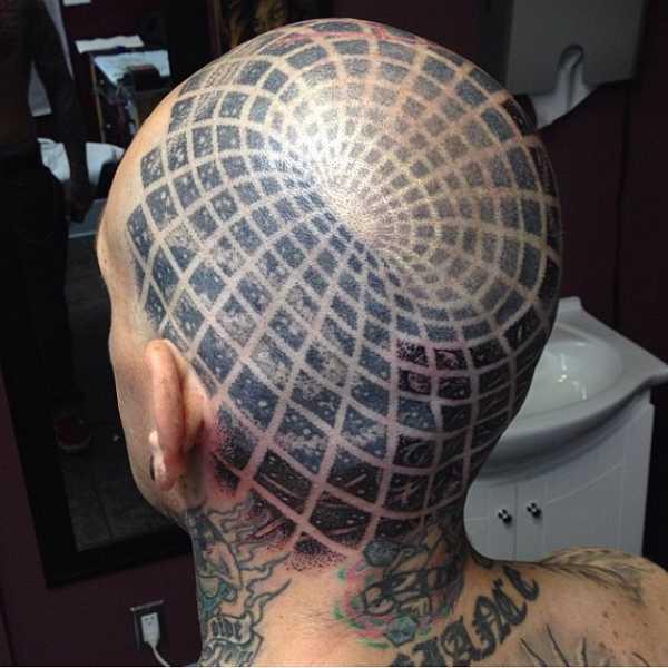 Total verr ckte kopf tattoos tattoo spirit for Full head tattoo