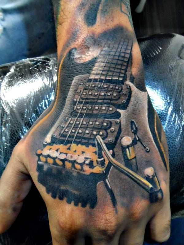 die 15 sch nsten musik tattoos tattoo spirit. Black Bedroom Furniture Sets. Home Design Ideas