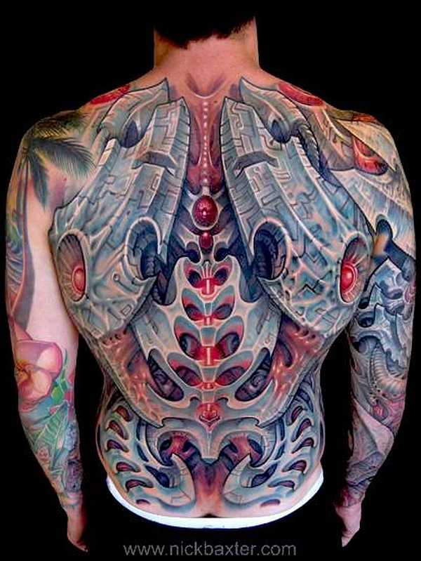 richtig abgefahrene biomechanik tattoos tattoo spirit. Black Bedroom Furniture Sets. Home Design Ideas