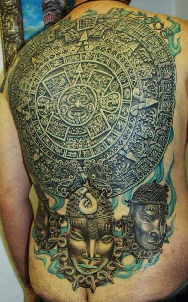 die motive der azteken tattoo spirit. Black Bedroom Furniture Sets. Home Design Ideas