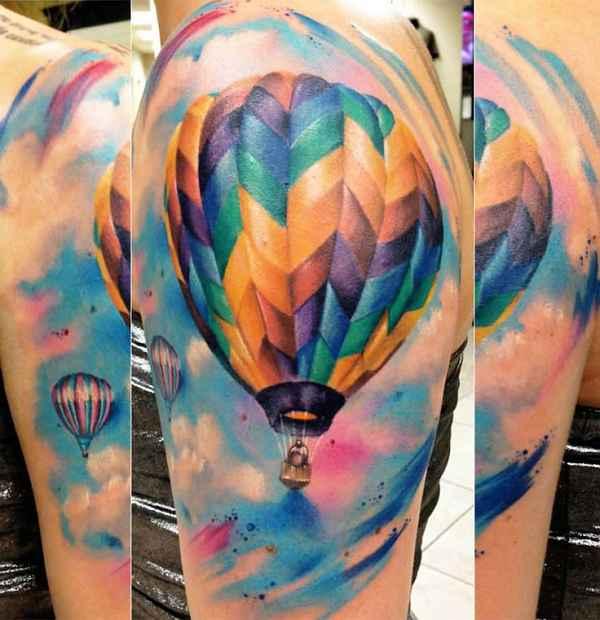 Balloon Tattoos Farbe In Der Luft Tattoo Spirit