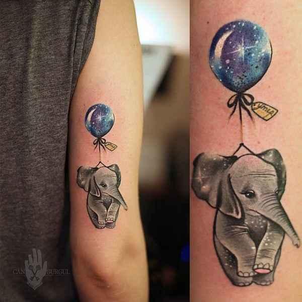 balloon tattoos farbe in der luft tattoo spirit. Black Bedroom Furniture Sets. Home Design Ideas