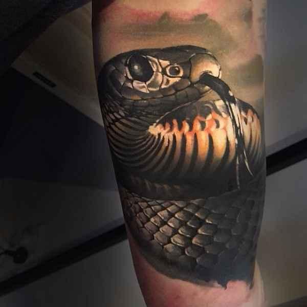 Au ergew hnliche schlangen tattoos tattoo spirit for Kendall jenner snake tattoo