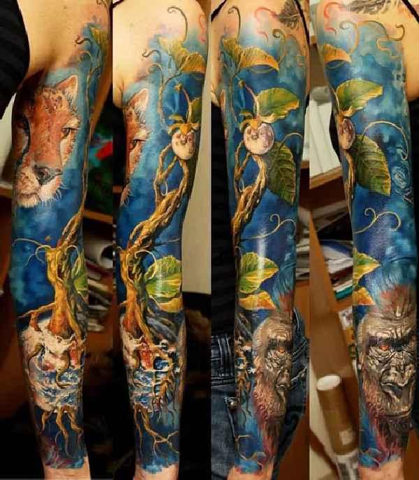 Nature-Sleeves-Tattoos-Dmitriy Samohin