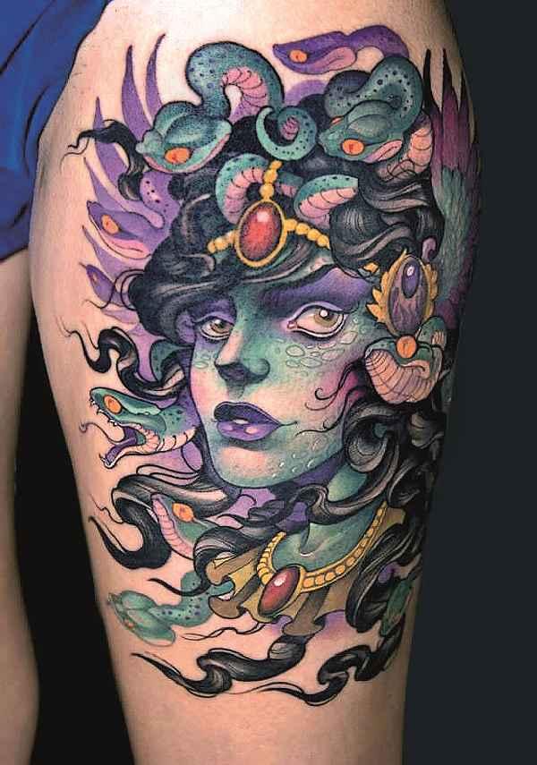 bedeutung der medusa tattoos tattoo spirit. Black Bedroom Furniture Sets. Home Design Ideas