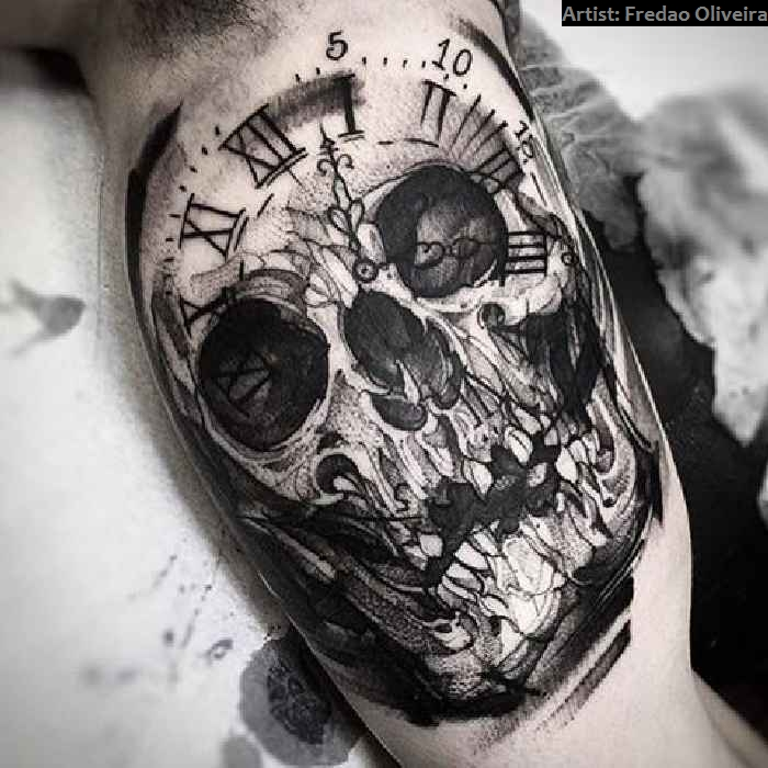 40 crazy skull tattoos tattoo spirit. Black Bedroom Furniture Sets. Home Design Ideas