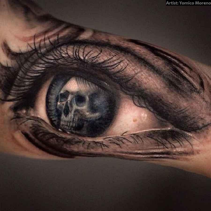 40 crazy skull tattoos tattoo spirit. Black Bedroom Furniture Sets. Home Design Ideas