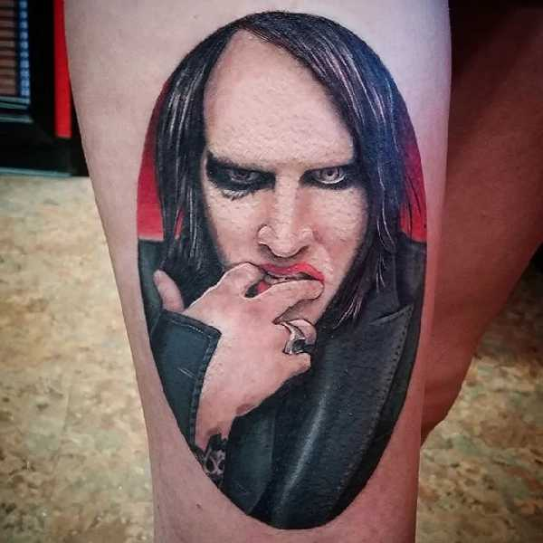 The pale emperor marilyn manson tattoo spirit for Marc anthony neck tattoo