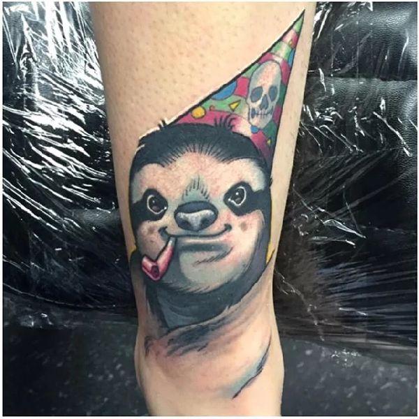 Sloth-Tattoo-Faultier-010-Joseph Matisa 001