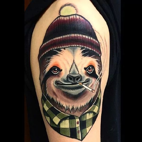 Sloth-Tattoo-Faultier-013-Brian Povak 001
