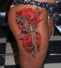 Tattoo, News, Gun, Police, Waffe, Tätowierung