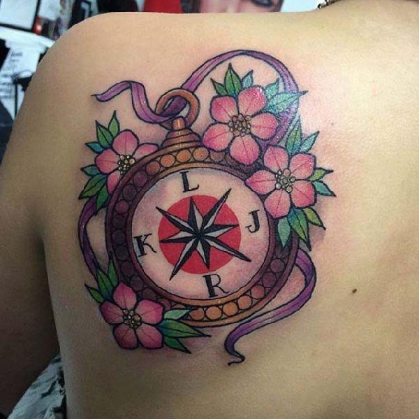 40 Wundervolle Kompass Tattoos Tattoo Spirit