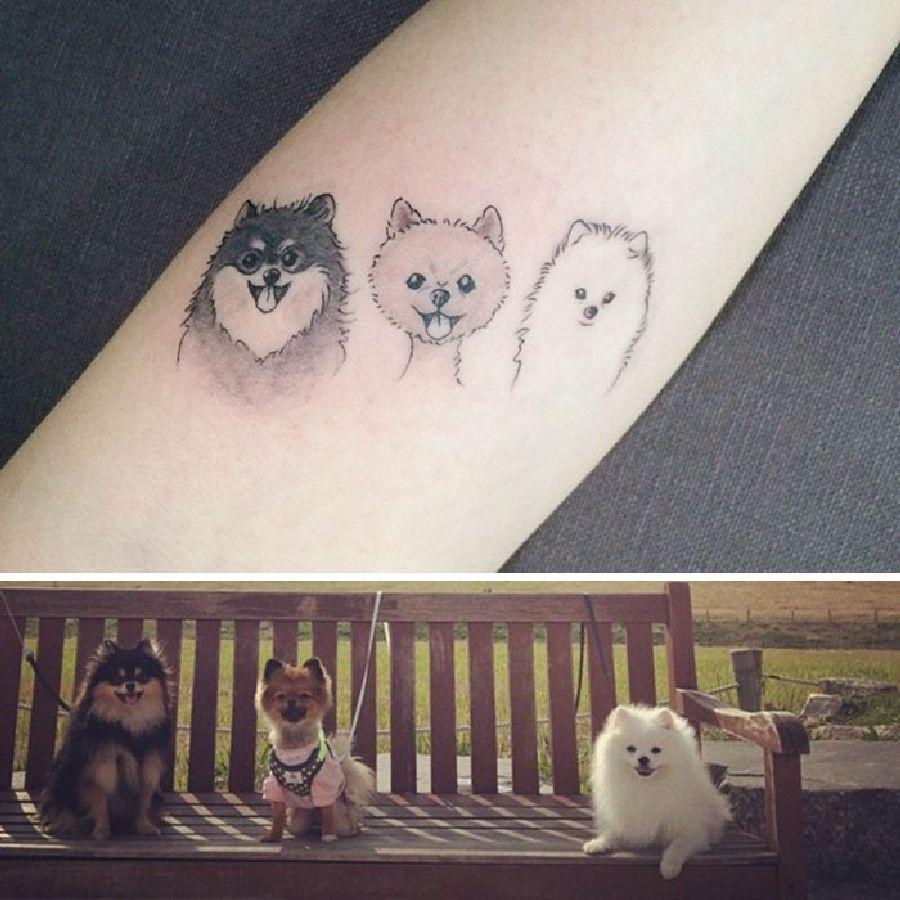 die besten hunde tattoo ideen tattoo spirit. Black Bedroom Furniture Sets. Home Design Ideas