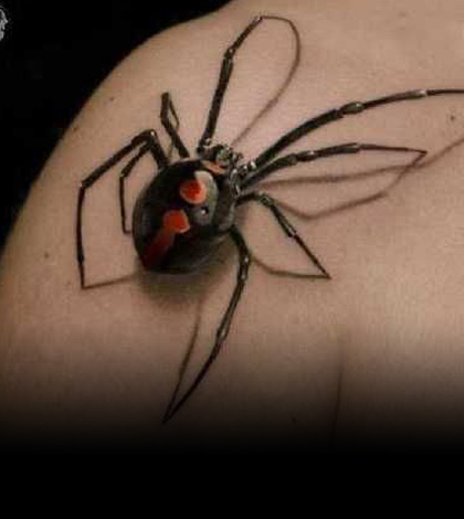krabbelige spinnen tattoos tattoo spirit. Black Bedroom Furniture Sets. Home Design Ideas