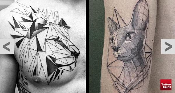 geometrische tiermotive tattoo spirit. Black Bedroom Furniture Sets. Home Design Ideas