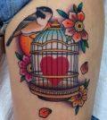 Tattoo, Design, Idea, Birdcage, Vogelkäfig, Tätowierung