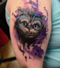 Tattoo, Idea, Design, Cheshire, Cat, Grinsekatze, Tätowierung, Alice