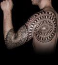 tattoo, idea, spiral, geometric, Tätowierung, Geometrie