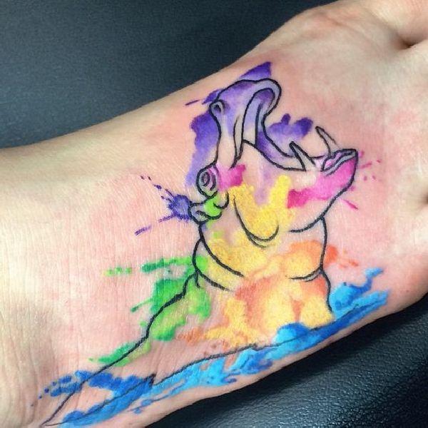 Tattoo-Motif-Hippo-04