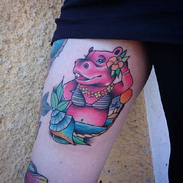 Tattoo-Motif-Hippo-13-Sofie Johansson 001