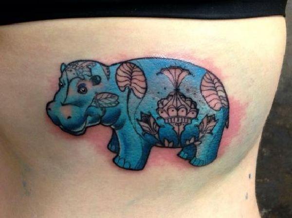 Tattoo-Motif-Hippo-19