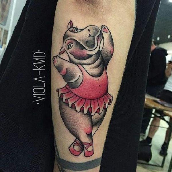 Tattoo-Motif-Hippo-23