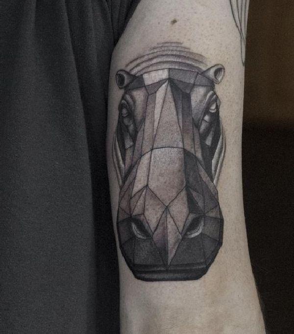 Tattoo-Motif-Hippo-24