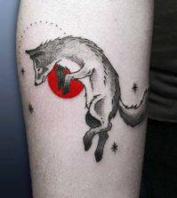 Tattoo, Tätowierung, Motiv, Idea, Design, Wolf